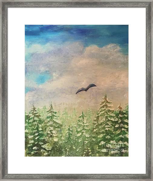 Winter To Spring Framed Print