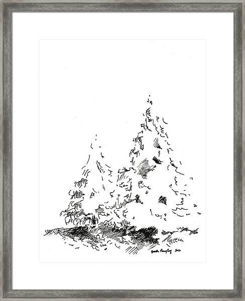 Winter Trees 1 - 2016 Framed Print