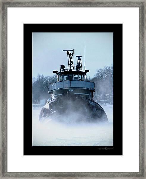 Winter Tug Framed Print