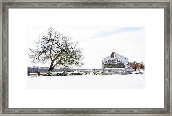 Winter White Out Framed Print