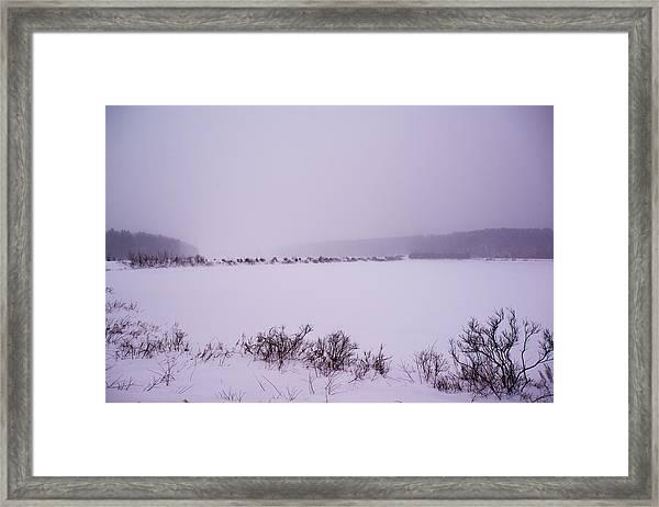 Winter's Desolation Framed Print