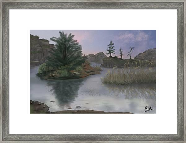 Winter's Edge Framed Print