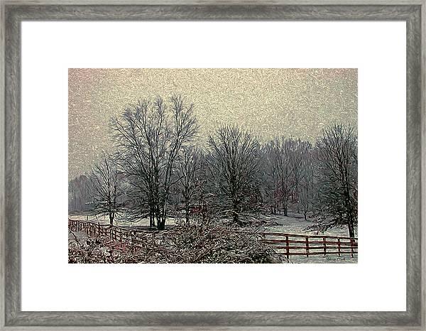 Winter's First Snowfall Framed Print