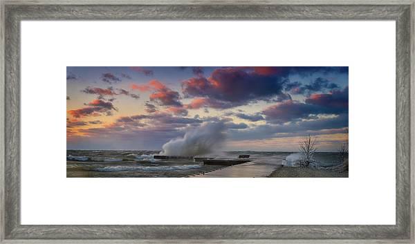 Winters Fury Framed Print