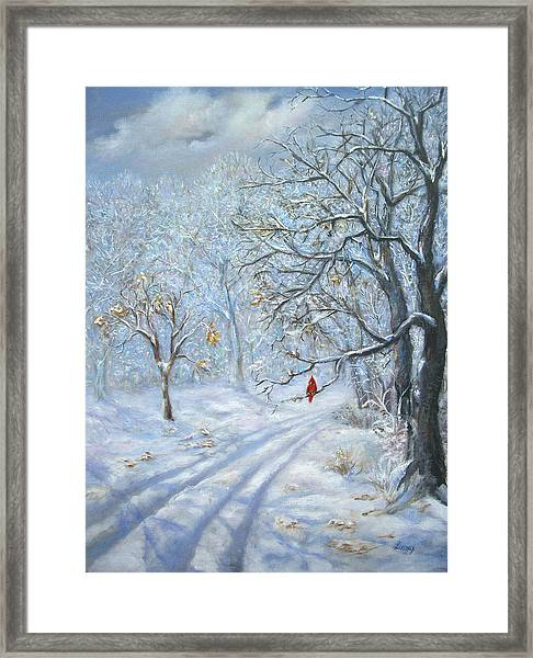 Winter's Guest Jockey Hollow New Jersey Framed Print