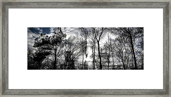 Winter's Mystic Horizon Framed Print