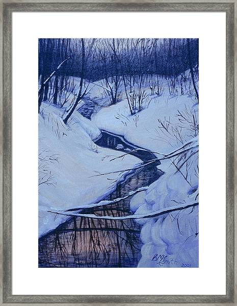 Winter's Stream Framed Print