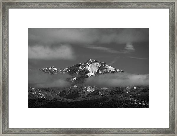 Winter's Window Framed Print