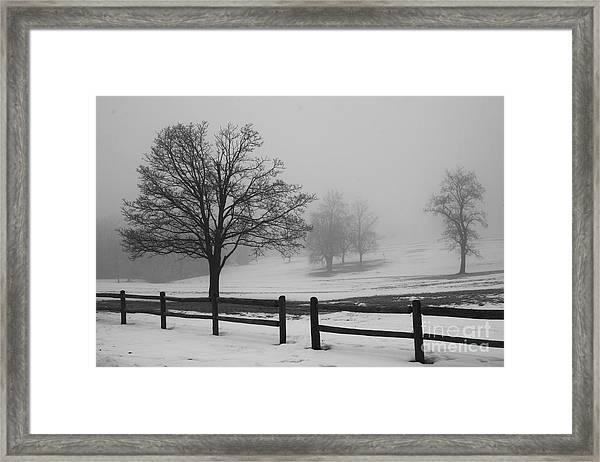 Wintry Morning Framed Print