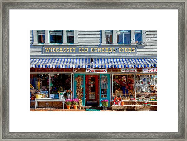 Framed Print featuring the photograph Wiscasset General by Susan Cole Kelly