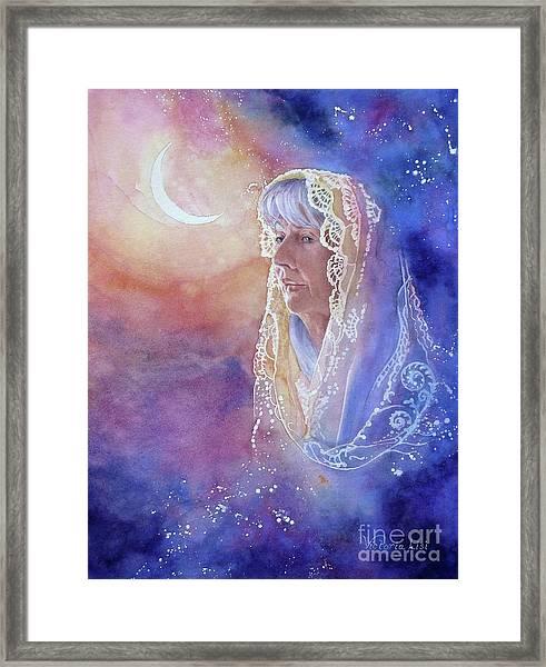 Wisdom Of The Waning Moon Framed Print