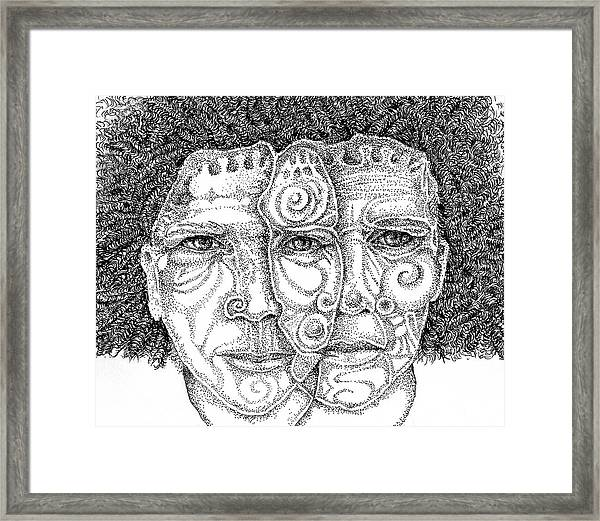 Wise Words-two Heads Are Better Than One Framed Print