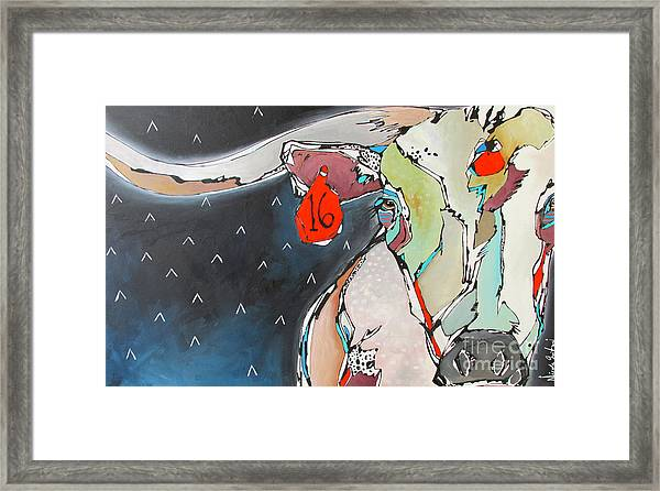 Wish On A Lucky Steer Framed Print