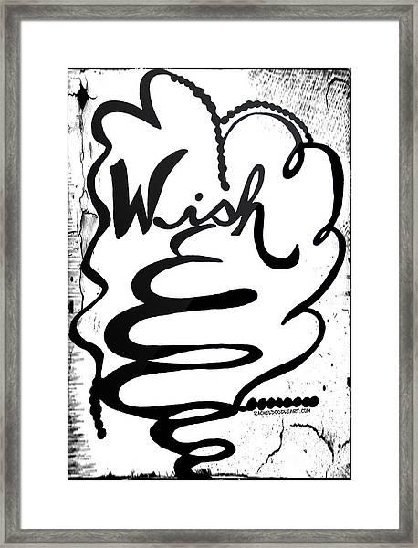Framed Print featuring the drawing Wish by Rachel Maynard
