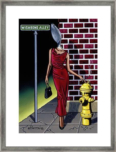 Wishbone Alley Framed Print
