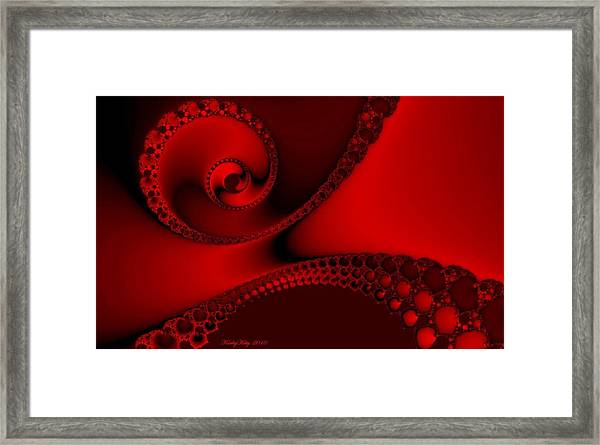 Witch Red Spirals Framed Print