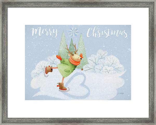 With All My Heart - Christmas Art Framed Print