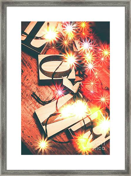 With Love And Lights Framed Print