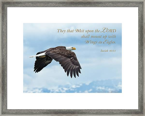With Wings As Eagles Framed Print