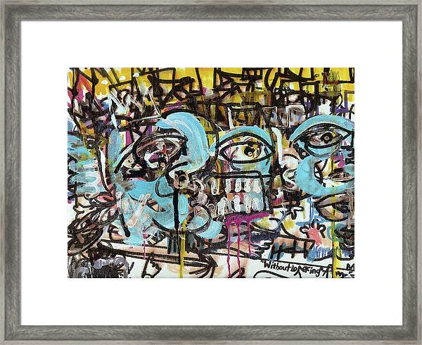 Without Looking N7 Framed Print