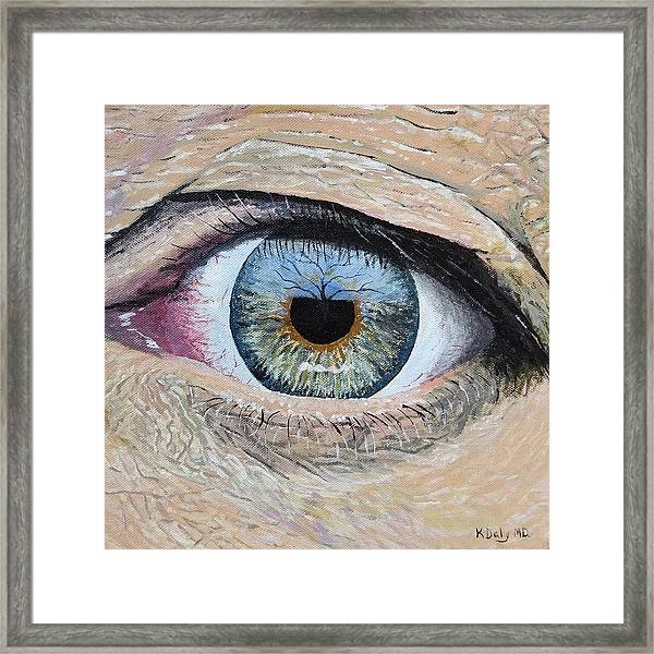 Framed Print featuring the painting Witness by Kevin Daly