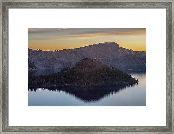 Wizard Island Morning Framed Print