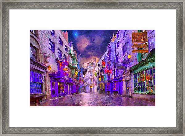 Wizard Mall Framed Print