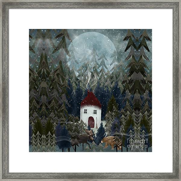 Wizard Wood Framed Print