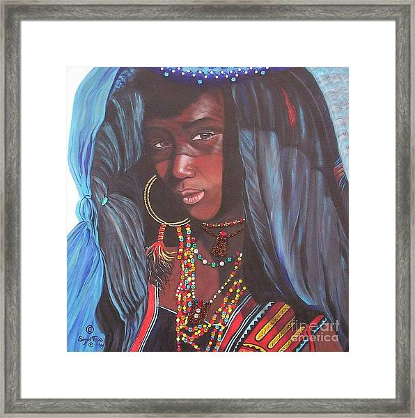 Virtuous Wodaabe Girl          From The Attitude Girls  Framed Print