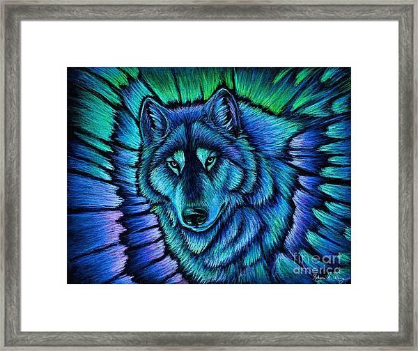 Wolf Aurora Framed Print