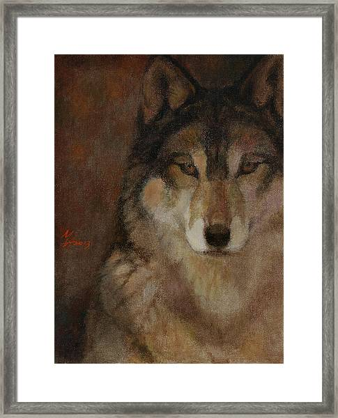 Wolf Head Framed Print