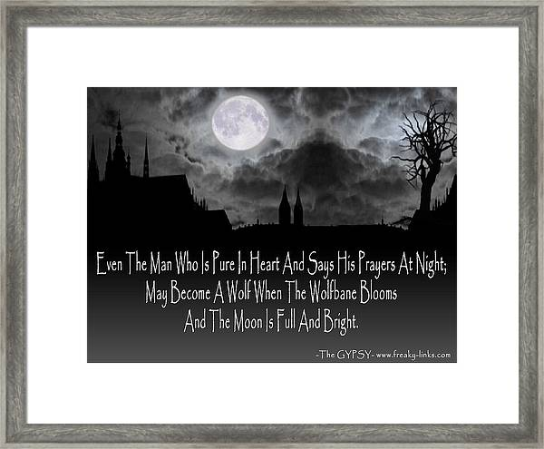 Wolf Moon Framed Print