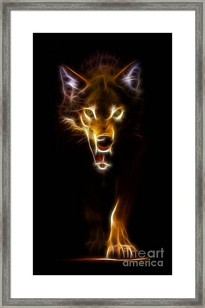 Wolf Ready To Attack Framed Print