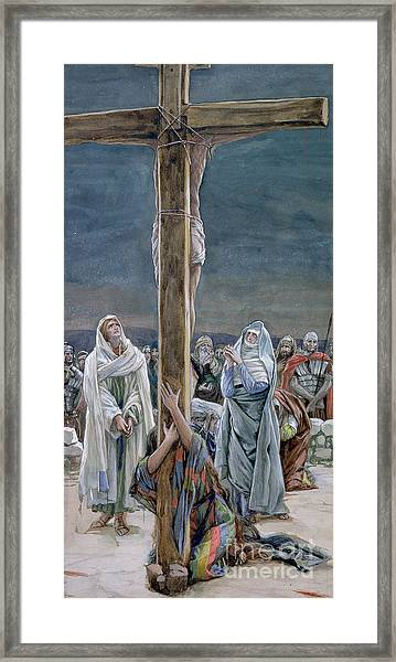 Woman Behold Thy Son Framed Print