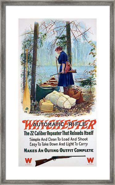 Woman Camper  Framed Print