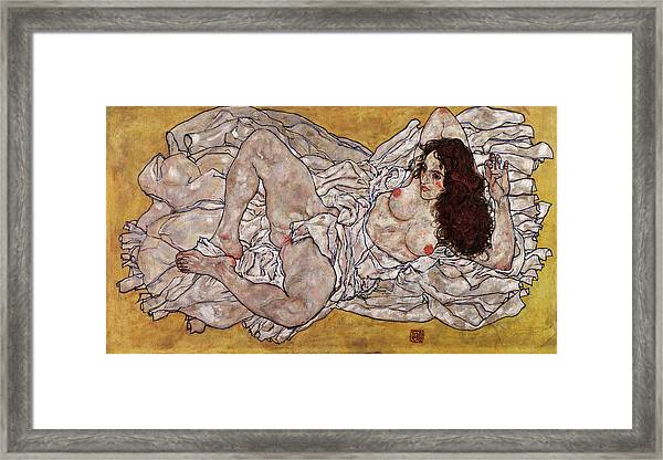 Reclining Woman Framed Print