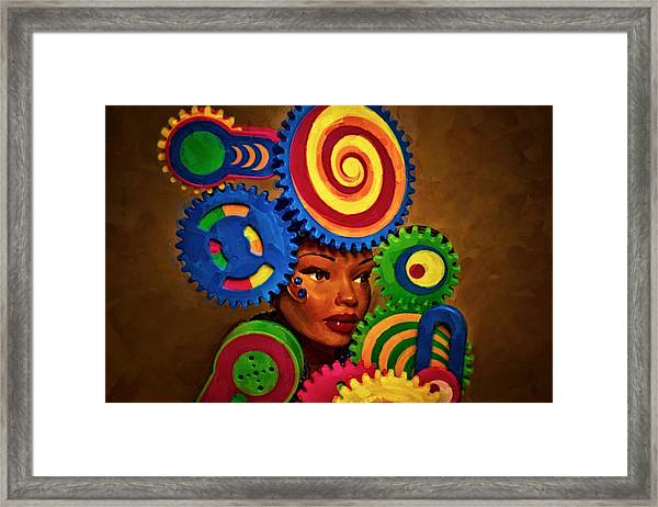 Woman Of Colors  Framed Print