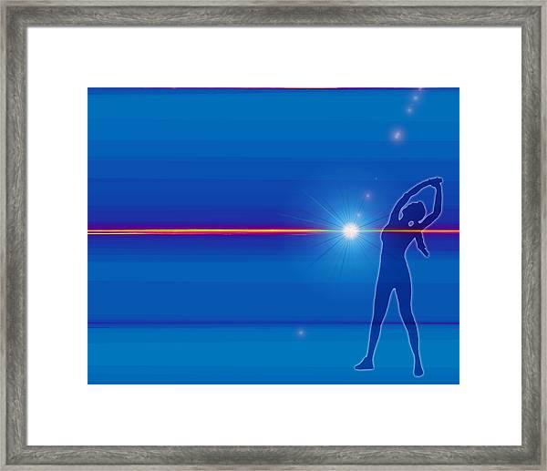 Woman Of The Yoga Sun Framed Print