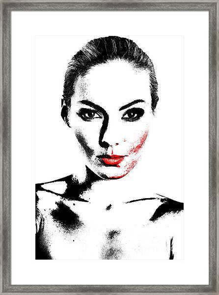 Woman Portrait In Art Look Framed Print