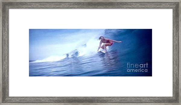 Woman Surfer Framed Print