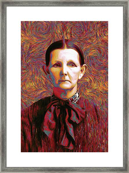 Woman With A Bow Framed Print