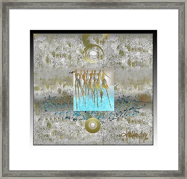 Framed Print featuring the digital art Women Chanting - Song Of Europa by Larry Talley
