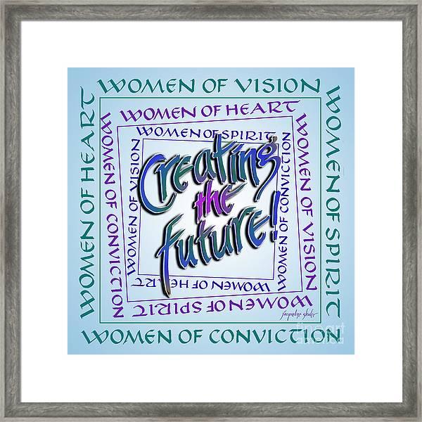 Women Of Vision Framed Print