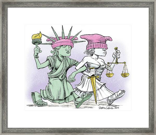 Women's March On Washington Framed Print