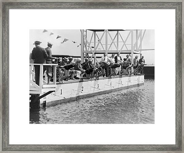 Women's Swimming Championship Framed Print