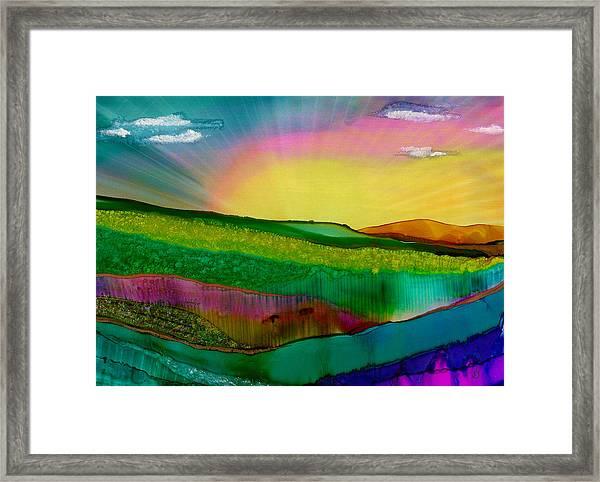Wonderland Of Salad Days Framed Print