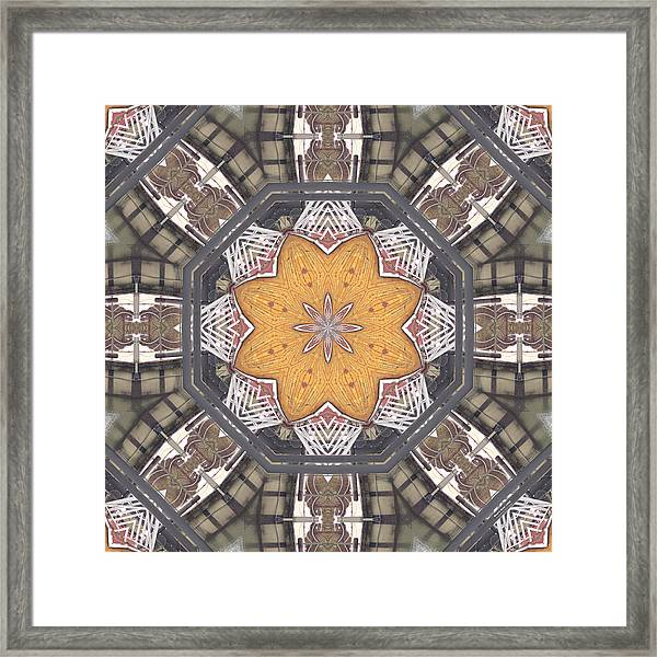 Framed Print featuring the digital art Wood And Metal 10338k8 by Brian Gryphon