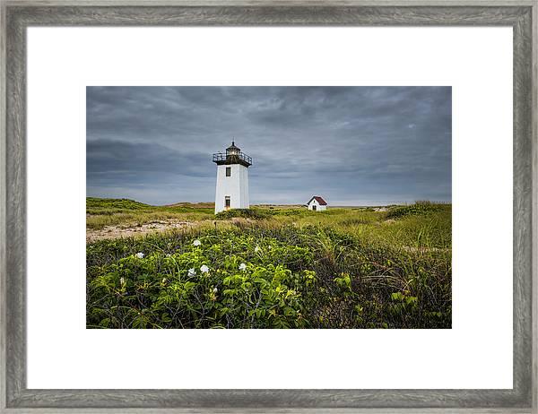 Wood End Light Framed Print
