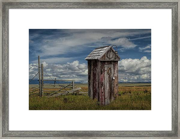 Wood Outhouse Out West Framed Print