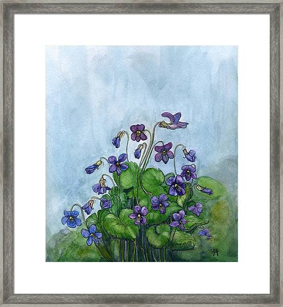 Wood Violets Framed Print
